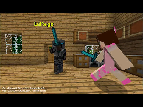NEW PopularMMOs Pat And Jen Minecraft When Pat's Godfather is Grim Reaper (Death)