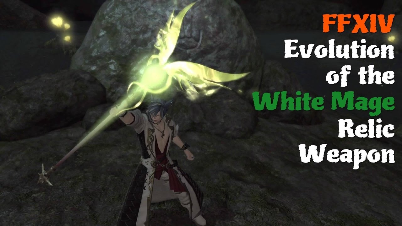 FFXIV Evolution of the White Mage Relic Weapon [Feat  Matoya's Cave Theme  (The Mushroomery)]