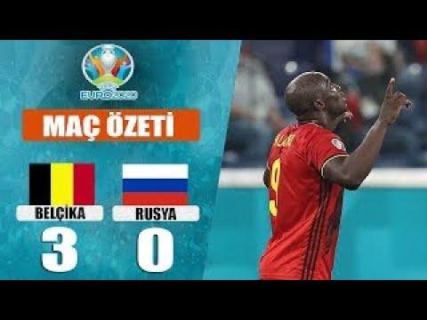 Belgium 3 0 Russia Highlight & Goals   Belçika Rusya Maçı Özet