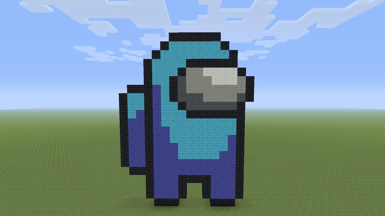 Minecraft Pixel Art Among Us Youtube