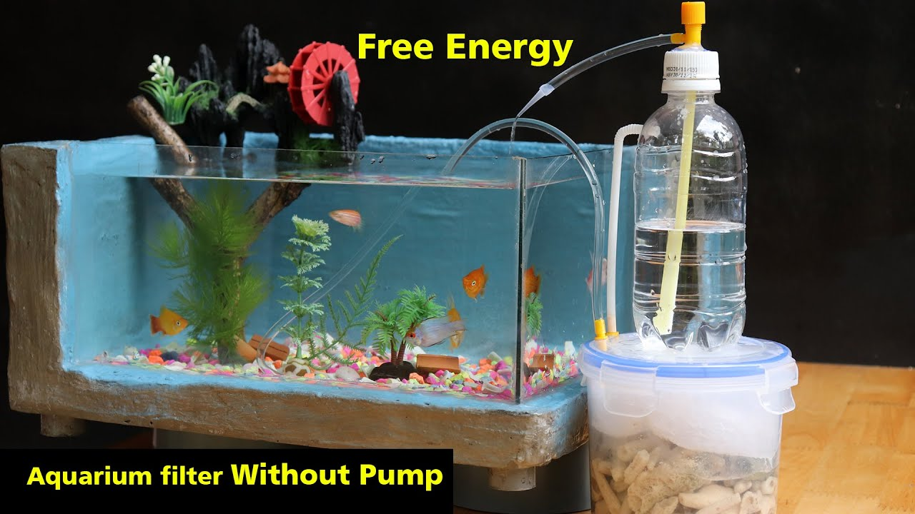 Free Energy How To Make Aquarium Filter Without Pump Youtube