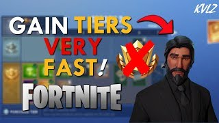 HOW TO TIER UP FAST IN FORTNITE WITHOUT BATTLE PASS! (BATTLE ROYALE)