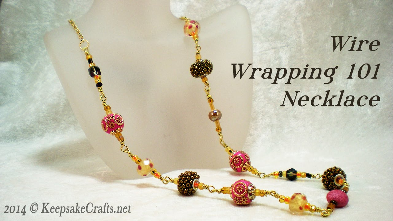 Wire Wrapping 101 - Bead Necklace Video Tutorial - YouTube