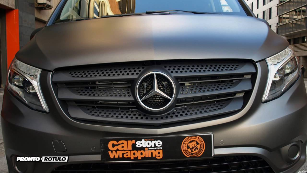 la nueva mercedes vito en gris grafito mate metalizado car wrapping by pronto rotulo since 1993. Black Bedroom Furniture Sets. Home Design Ideas