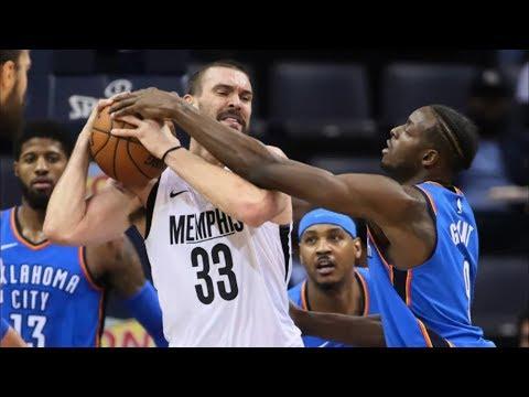 Russell Westbrook Triple Double! Harrison Career High! 2017-18 Season
