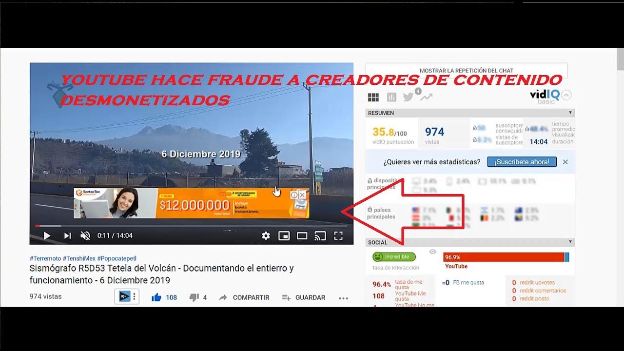 FRAUDE DE YOUTUBE - MONETIZA VIDEOS DE CANALES DESMONETIZADOS