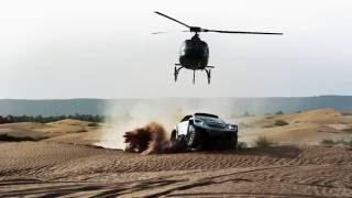 Peugeot test their new car for the 2017 dakar rally