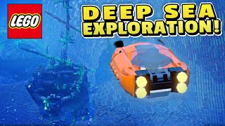 LEGO Worlds: EXPLORING THE OCEAN -Submarine Gameplay!! - Lego Minecraft Ep 9 (1080p)