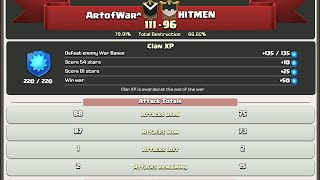 CLASH OF CLANS | ArtofWar^ vs. HITMEN 3 star war raids