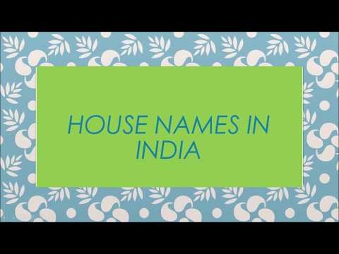 Top 25 House Names in India 2018