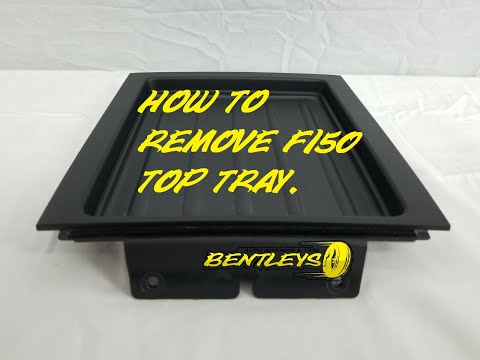 HOW TO REMOVE REMOVAL OF A 2004 - 2008 FORD F-150 UPPER MIDDLE DASH STORAGE TRAY & RADIO BEZEL.