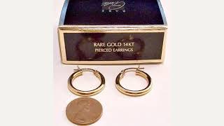Avon 14kt Yello Gold Hoop Earrings