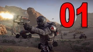 Planetside 2 - Part 1 - I'm a Noob (Planetside 2 Live Multiplayer Gameplay)