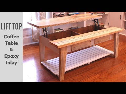Coffee Table using reclaimed pallet wood with epoxy inlay - How to Make It