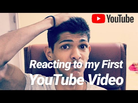 Reacting to my First YouTube Video! One year Ago! #youtube