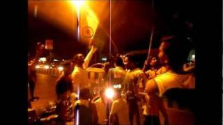 Street celebrations in Mumbai after India-Pak semi-final of cricket world cup