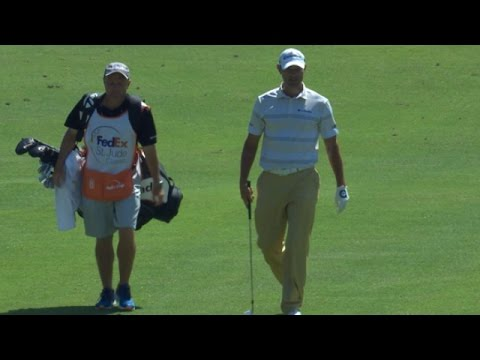 Shawn Stefani holes out for eagle at FedEx St. Jude