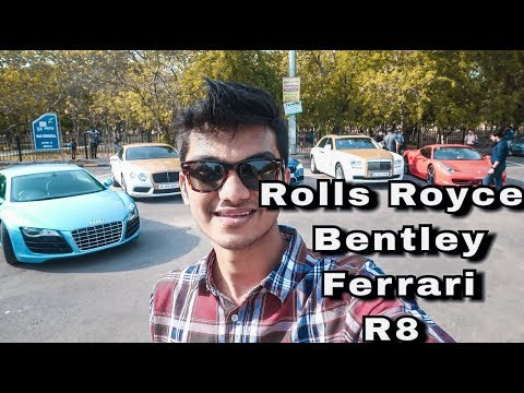 Super rich kids of India | Sunday Supercar Drive Part 2 | New Delhi