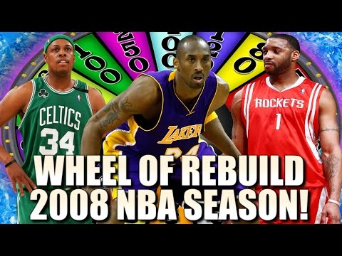 WHEEL OF REBUILD! 2008 NBA SEASON EDITION!! 82-0 CHALLENGE! - NBA 2K17