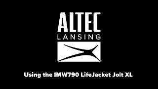 Using the LifeJacket XL Jolt Bluetooth Speaker Part 2 - Bluetooth, NFC and House Party Pairing