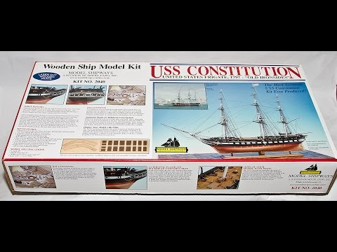 "Model ShipWays USS Constitution  1797 ""OLD IRONSIDES"" 1:76.8 Wooden Ship Model kit"