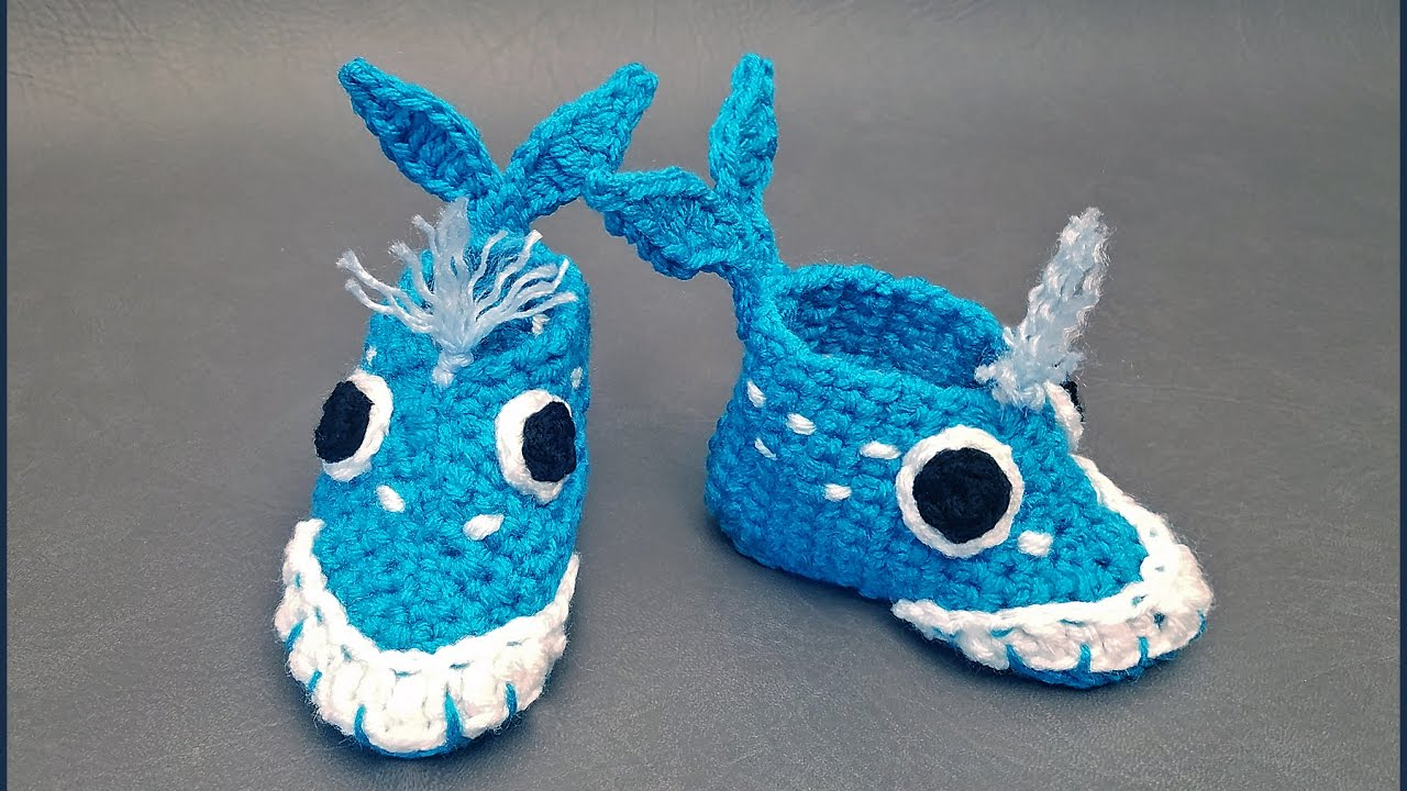 Crochet Tutorial: Whale-y Awesome Baby Booties - YouTube