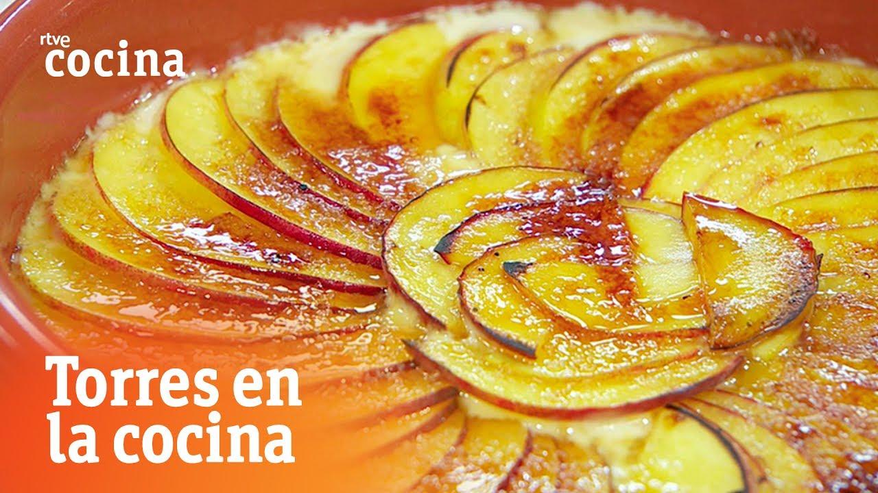 Crema de melocot n torres en la cocina rtve cocina for Torres en la cocina youtube