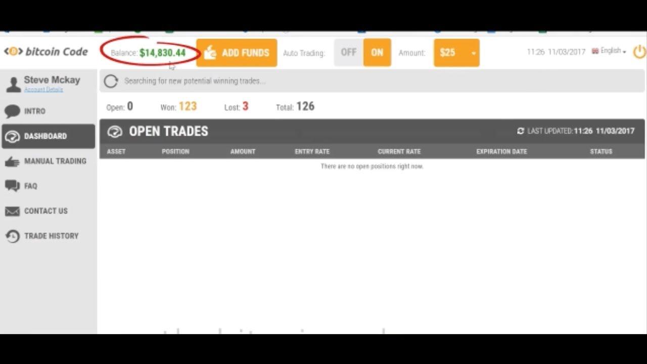 bitcoin code trading platform