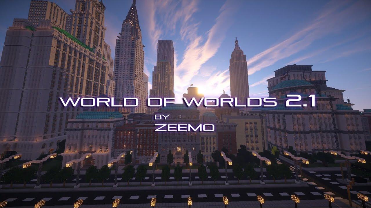 Minecraft City World of worlds 21 YouTube
