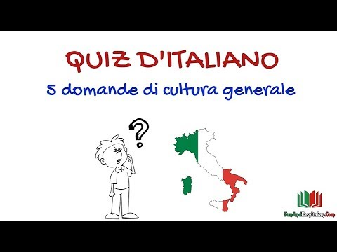 QUIZ DI CULTURA GENERALE ITALIANA #1