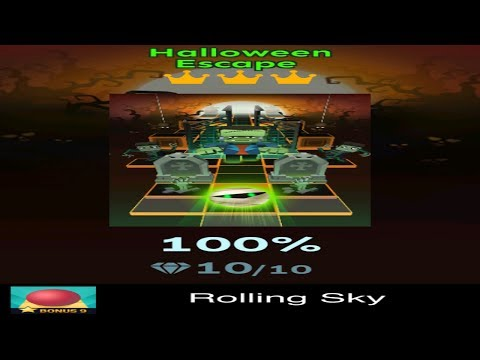Rolling Sky Bonus 9 - Halloween Escape - Completed All Diamonds And Crowns