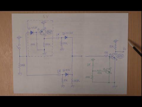 電子工作 回路編2スイッチのONとOFFでパルスを出力する回路