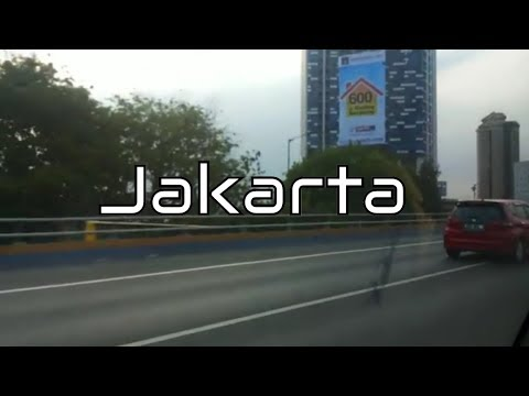 Jakarta Indonesia in the streets with the friends in a car