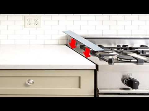 Kohzie Silicone Stove Counter Gap Cover White Stove Gap