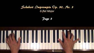 Schubert Impromptu Op. 90, No. 3 Gb Major Piano Tutorial
