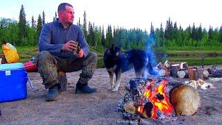 Рыбалка на севере в диких местах 3. Щуки атакуют. Как я разделываю щуку на филе для жарки. Сплав.