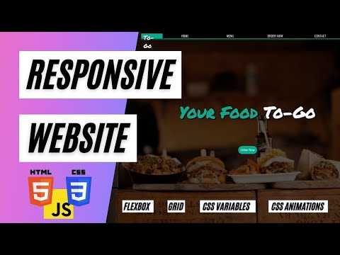 Build a website using HTML CSS and JavaScript |  Food to go Website