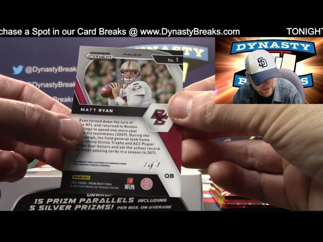 2021 Prizm Draft Picks Football 4 Box Quarter Case Break #3   Sports Cards