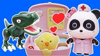 Pet Care House Toys | Baby Panda Pretend Play Cooking | Play Doh | Baby Care | Baby Shark | ToyBus