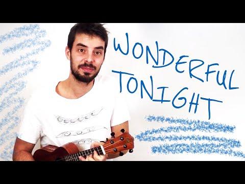 WONDERFUL TONIGHT Ukulele Tutorial w/ chords and fingerpicking + uke solo