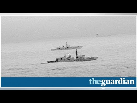Box TV - Russian warships through the North Sea was escorted by ships of the