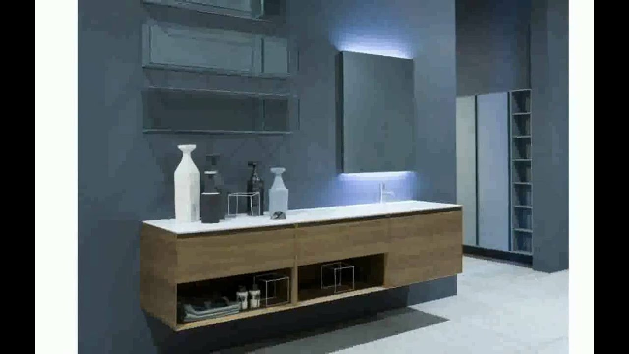 Meubles salle de bain design youtube for Dimension meuble salle de bain 1 vasque