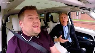 paul mccartney kills it in carpool karaoke with james corden