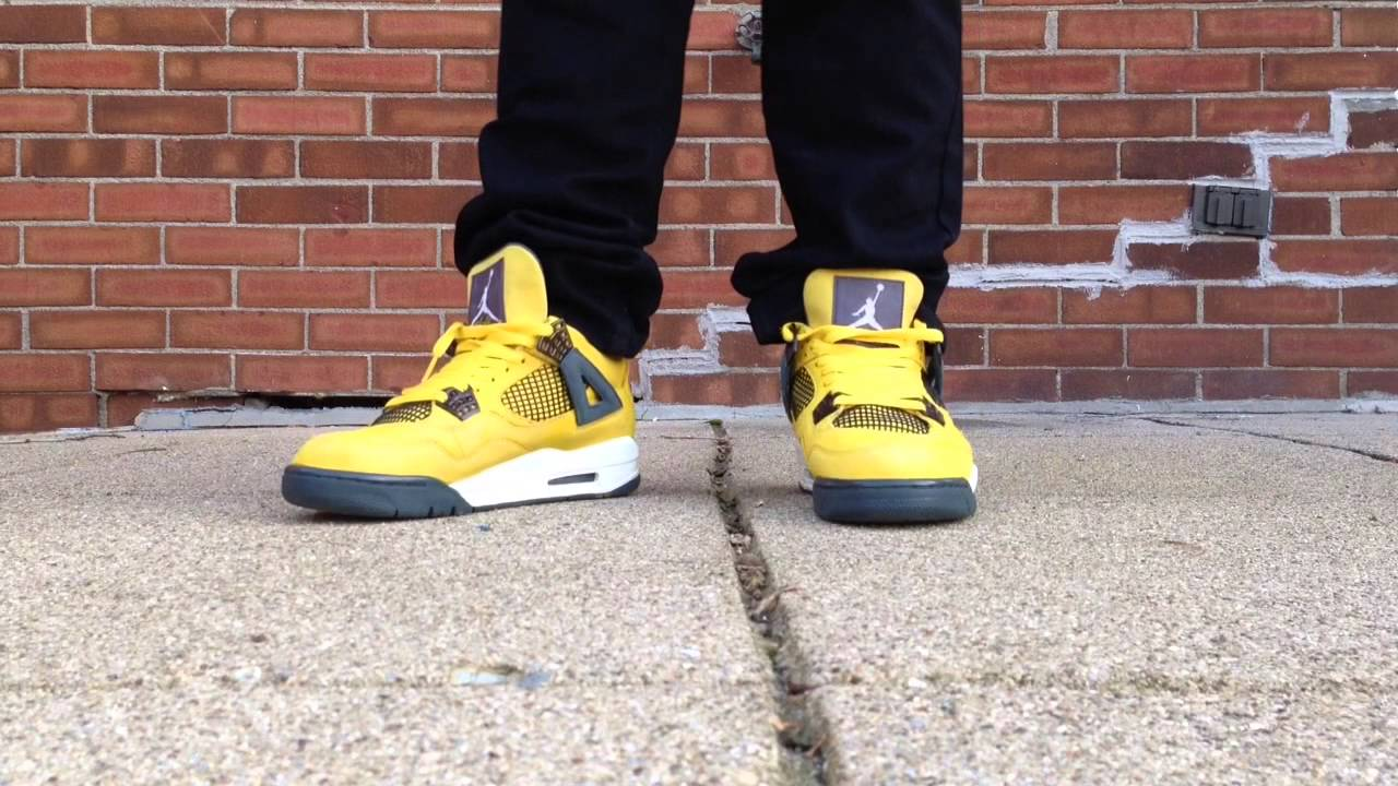 air jordan lightning iv 4s on feet review youtube