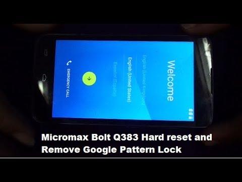 Hard Reset MICROMAX Q383 Bolt - HardReset info