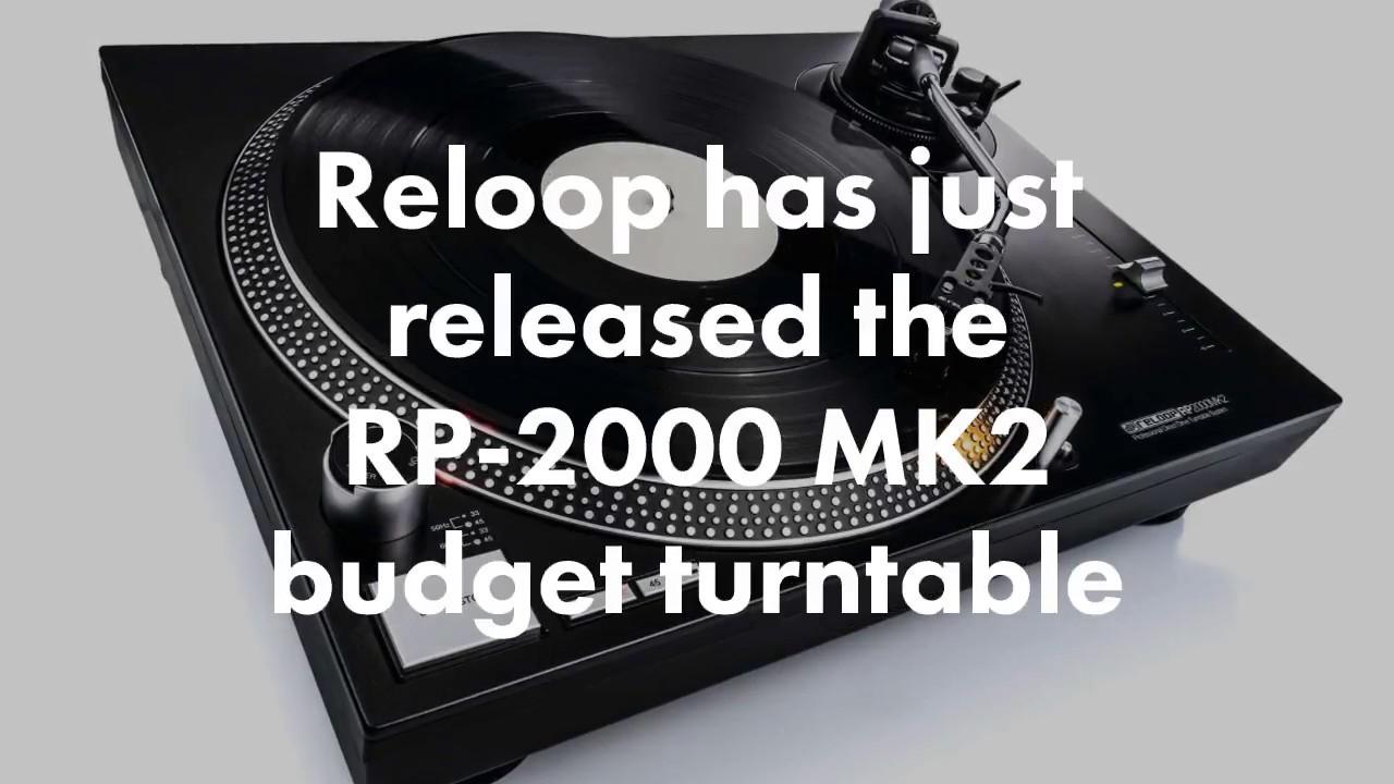 Reloop Releases RP-2000 MK2 Entry-Level DJ Turntable