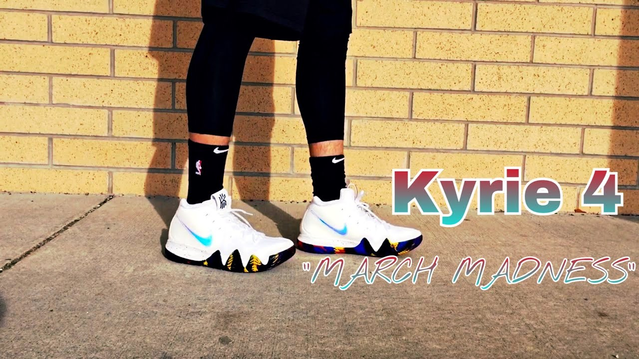 best sneakers 4bba3 5bc91 KYRIE 4 MARCH MADNESS REVIEW/ON FOOT.
