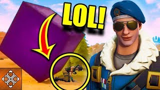 CRUSHED BY THE PURPLE CUBE!? - Funniest Fortnite Moments - FAILS - WINS