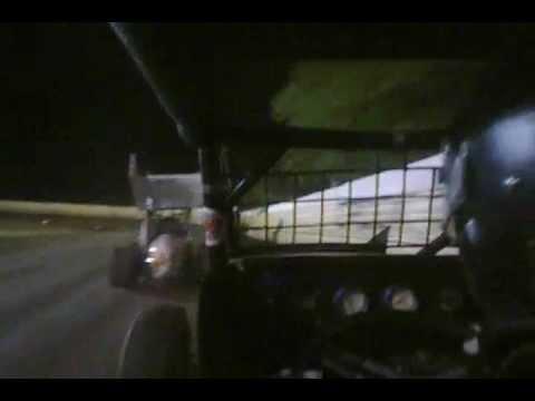 sprint car A feature sapulpa, oklahoma. Creek county speedway brent bates onboard camera