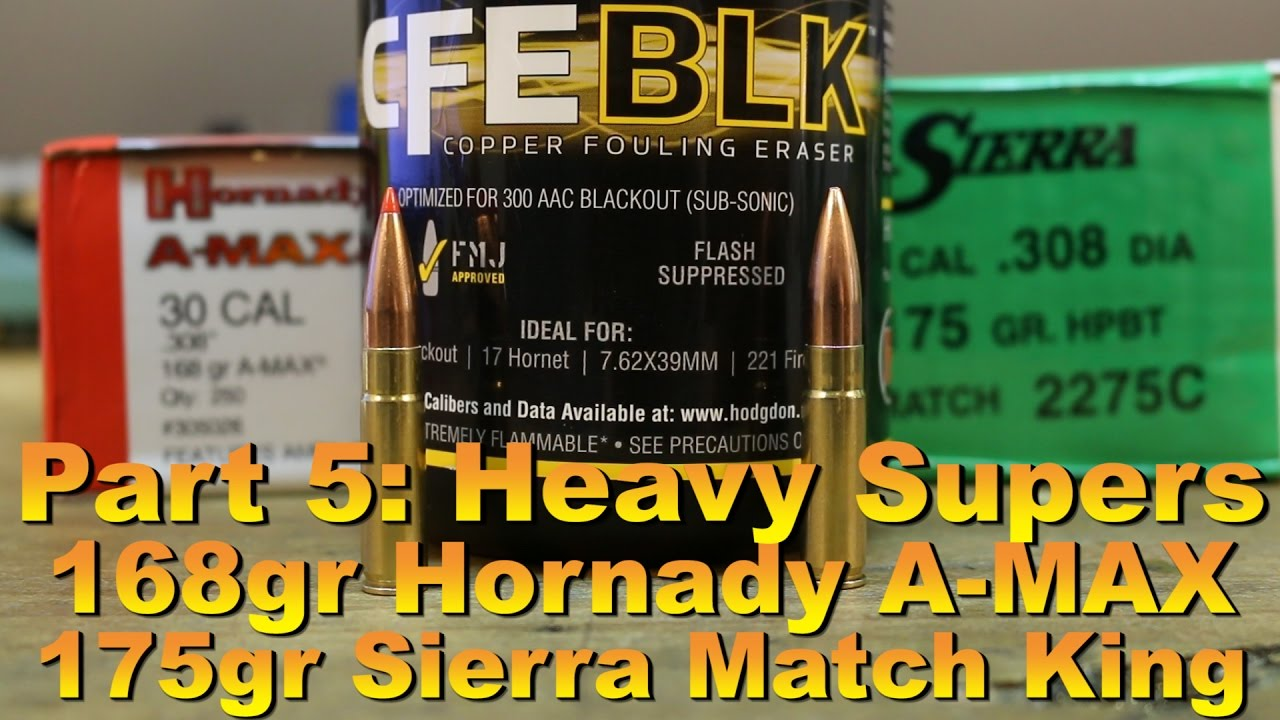 Hodgdon CFE BLK part 5: Heavy supersonics with the 168gr A ...